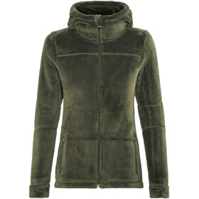 Meru Nunavut Hooded Teddy Fleece Jacket Women Forest Night